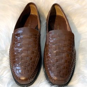 Soft Stags Genuine Brown Leather Slip On Shoes